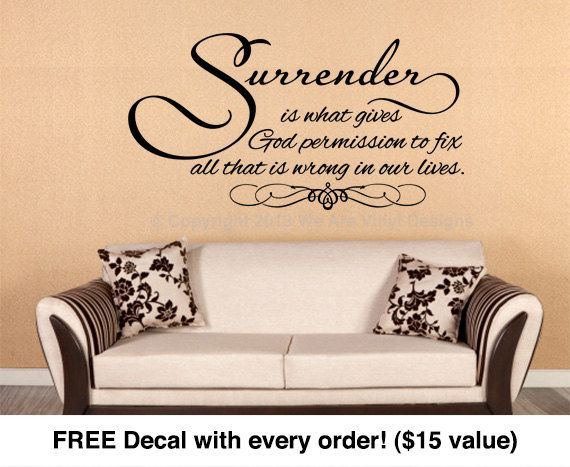 Religious Wall Quote. Surrender Is - CODE 004