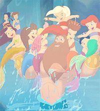MOVING PICTURE - THE LITTLE MERMAID III - ARIALS SISTERS AND FATHER