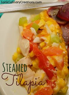 Steamed Tilapia on the Grill  l  www.lorisculinarycreations.com  l  #SteamedFish #Grilling