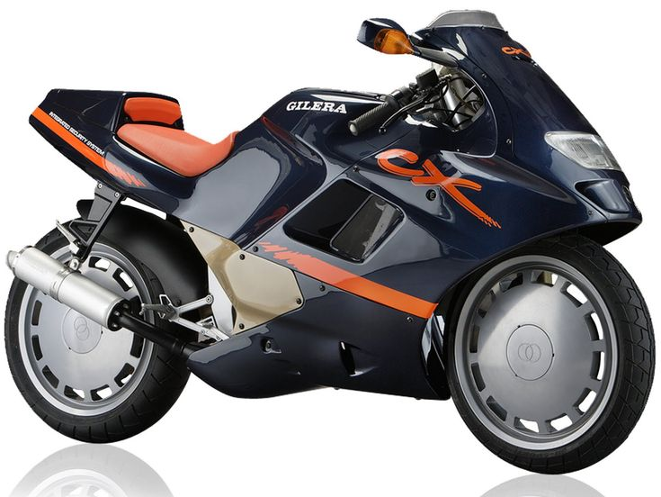 Gilera CX 125. This was a bold motorcycle with great technic derived from the Elf Honda's