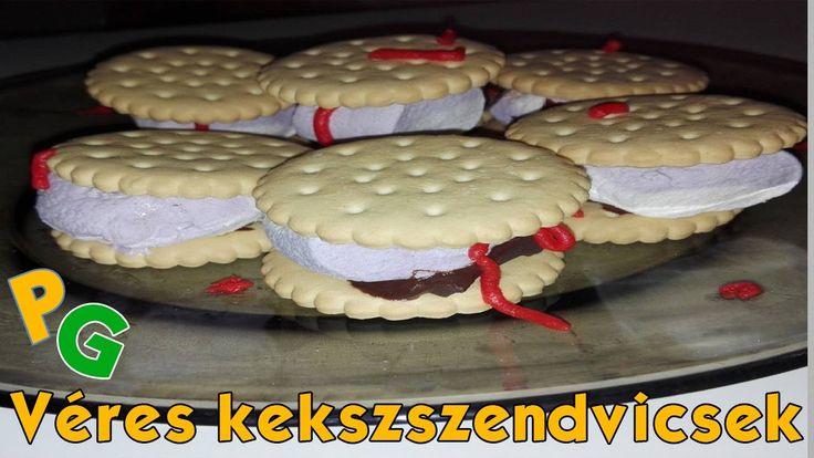 Véres kekszszendvics | Halloweeni receptek #2 | PityuGeri
