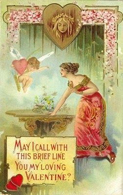 vintage valentine's day postcards | Naomi Thompson : Vintage Valentine's Day Cards