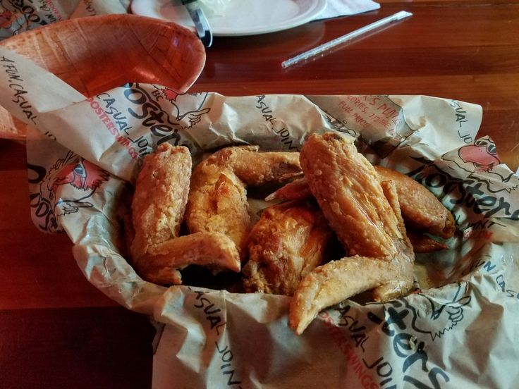 5 Traditional wing's at Roosters Restaurant. 5335-Dressler rd nw. North Canton, Ohio 44718.