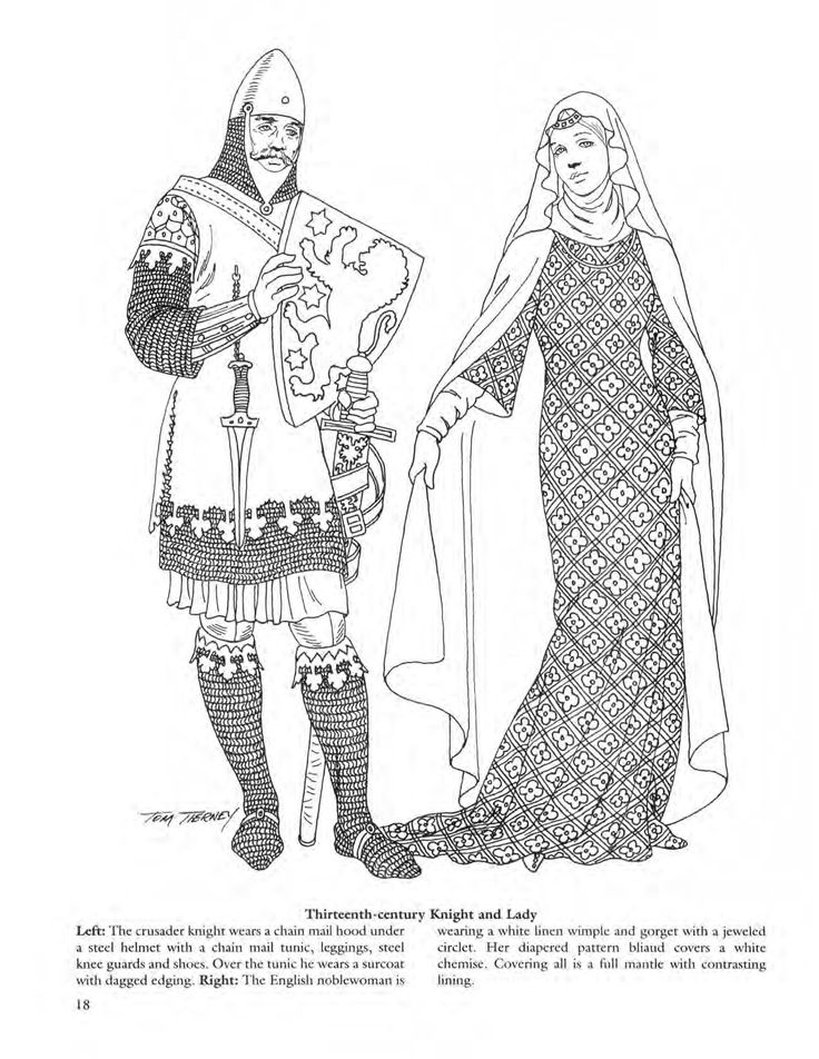 Medieval fashions coloring book 79