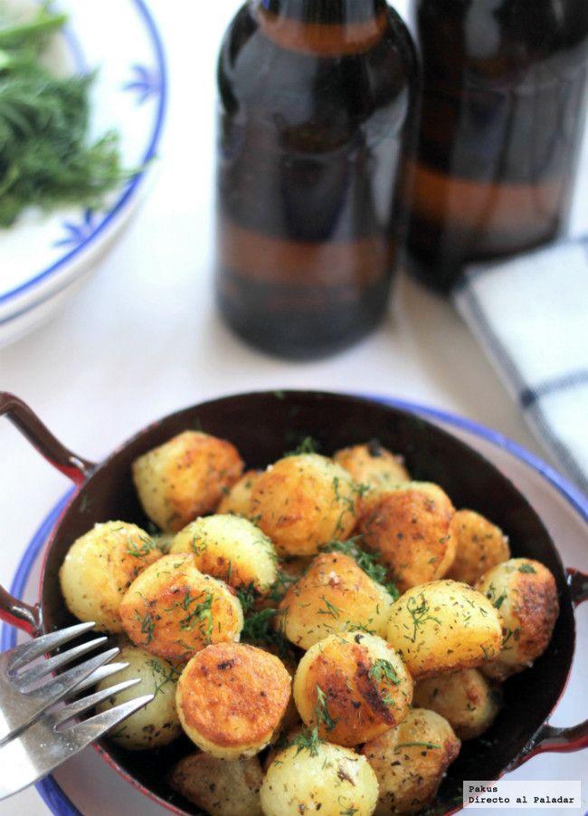 Bolitas de patata al estragón para acompañar el pescado. Receta de guarnición con fotos del proceso elaboración paso a paso. Trucos para prepar...