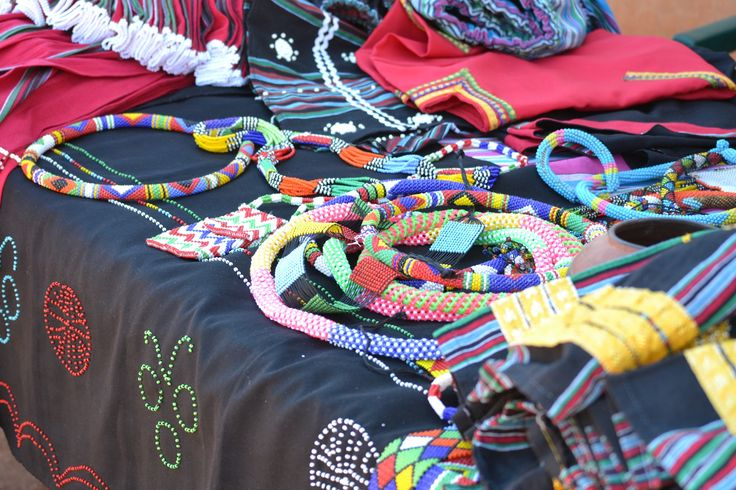 Beautiful Shangaan jewellery in Limpopo, South Africa. Visit www.openafrica.org for information on self-drive travel routes in South Africa.