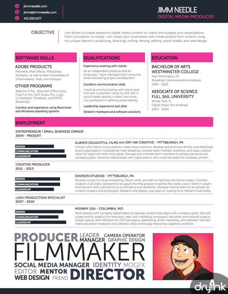 107 best CV images on Pinterest Resume design, Design resume and - advertising producer sample resume