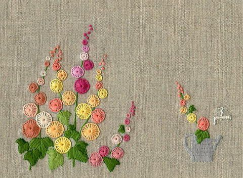 Buttonhole Stitch Flowers  Embroidery  Pinterest