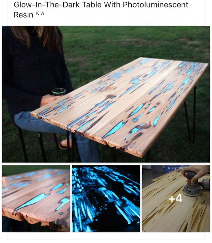 Glow in the dark wood and resin table home ideas - Glow in the dark resin table ...