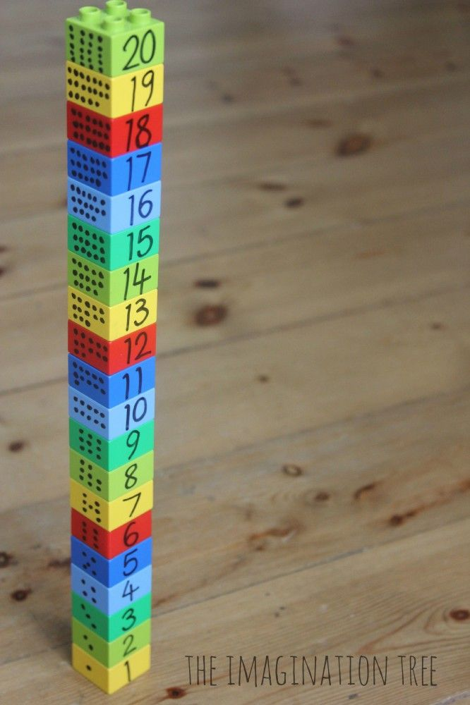 Awesome way to teach kids counting, ordering and measuring with Legos.