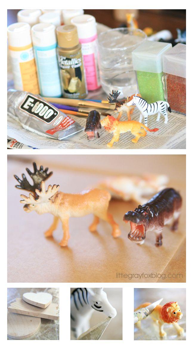 Little Gray Fox: Plastic Animal Crafts