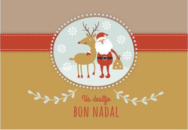 Resultado de imagen de felicitacion de navidad en catalan