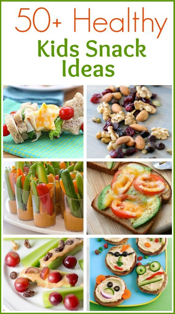 50 Healthy Kids Snack Ideas roundup on TastesBetterFromScratch.com