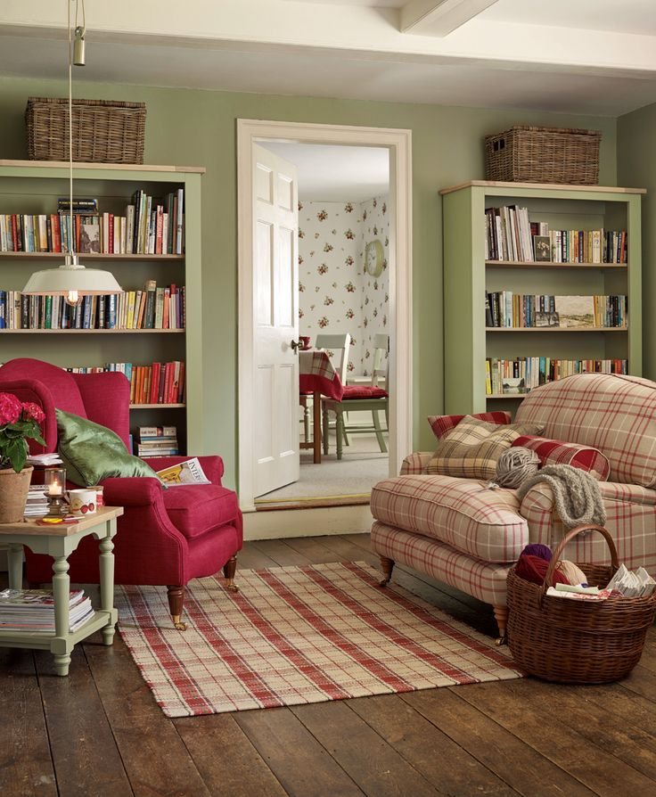 Red And Green Cream Theme Laura Ashley Find This Pin More On Country Cottage Living Room