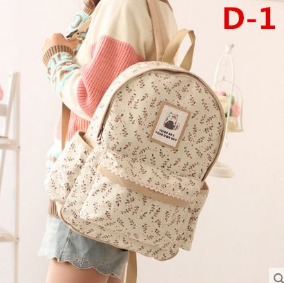 "Fashion students canvas backpack  Coupon code ""cutekawaii"" for 10% off"