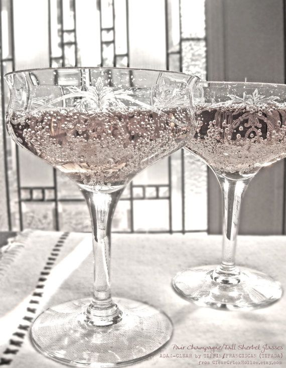 Champagne+/+Tall+Sherbet+Crystal+Glassware+by+ClearCrickHollow,+$14.00
