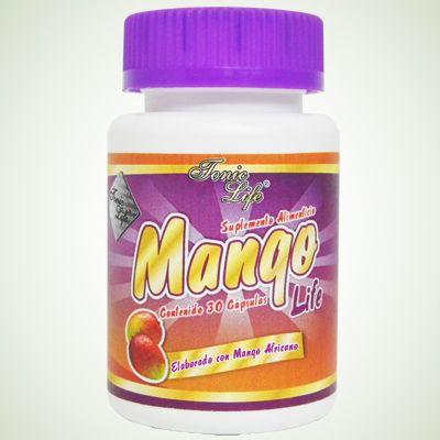 Mango Life (Mango Africano) de Tonic Life para bajar de peso  Para las personas que tengan problemas de grasa localizada en el abdomen. Esta fruta ayuda a perder peso, porque acelera el metabolismo y dota al cuerpo de energía extra, que toma de las grasas. Realmente combustiona las grasas. Como beneficio adicional, el mango africano contiene grandes cantidades de vitamina B, la cual también aumenta el metabolismo de los hidratos de carbono que se almacenan como en forma de grasa.