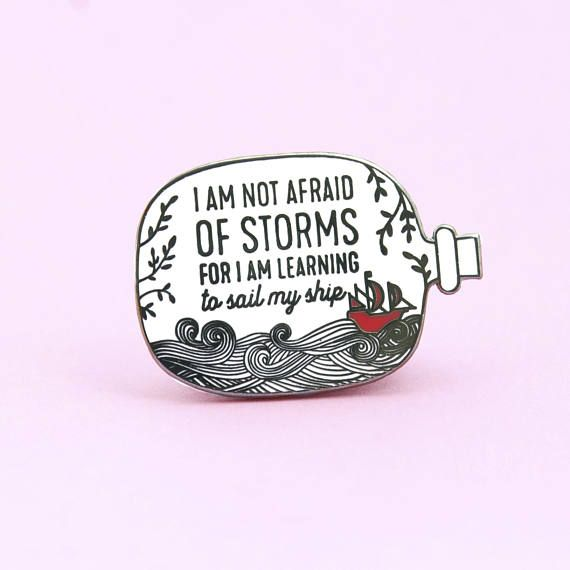 Not Afraid Pin | Little Ladies quote – Guide Pin – Bookworm – Booklover – Guide enamel pin – enamel pins