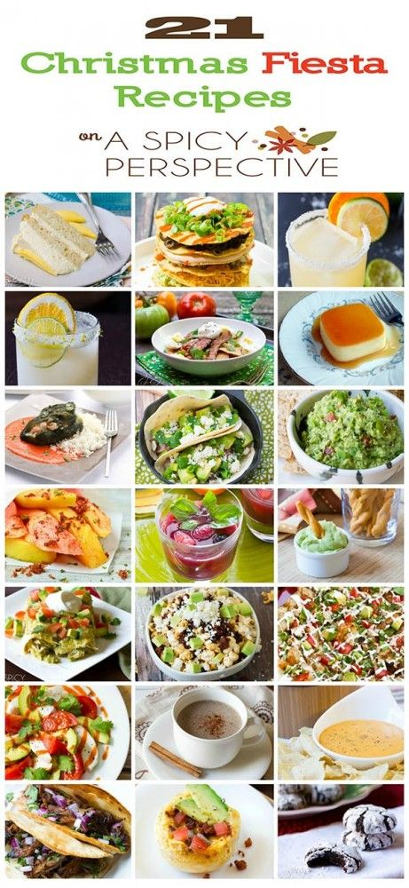 15 best christmas mexican dinner images on pinterest cooking food 21 christmas fiesta recipes mexican food recipes mexican forumfinder Image collections