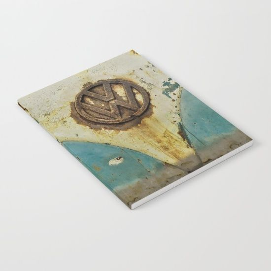 VW Rusty Notebook - #Society6 #notebook #notepad #VW #Volkswagen #Camper #Rusty #Retro #VWBus #CamperVan #notebookdesign #notebookcover