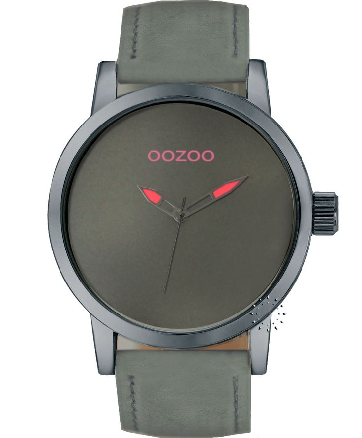 OOZOO Small Τimepieces Grey Leather Strap Η τιμή μας: 69€ http://www.oroloi.gr/product_info.php?products_id=34626