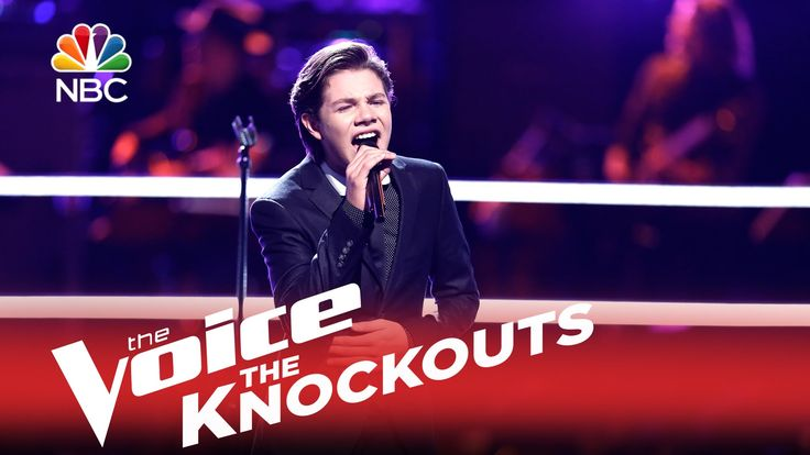 "The Voice 2015 Knockout - Braiden Sunshine: ""Feeling Good"" - let me think of Rick Astley back then, a young man with a powerful voice."