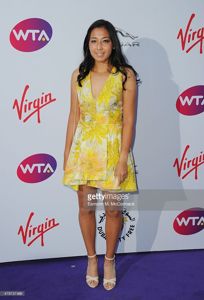 Zarina Diyas attends the annual WTA Pre-Wimbledon Party presented by Dubai Duty Free at The Roof Gardens, Kensington on June 25, 2015 in London, England.