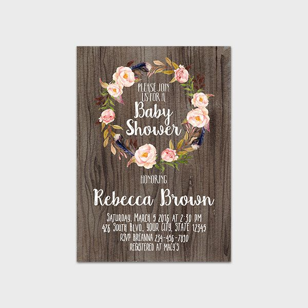 the 25+ best ideas about bohemian baby showers on pinterest, Baby shower invitations