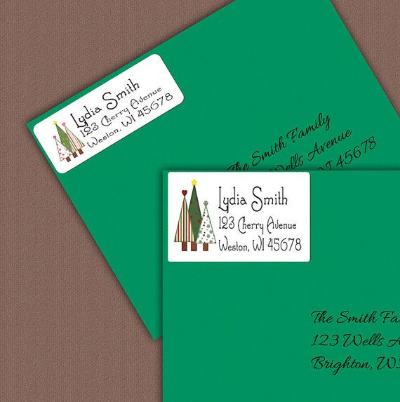 Christmas Address Labels Personalized Return Address Label
