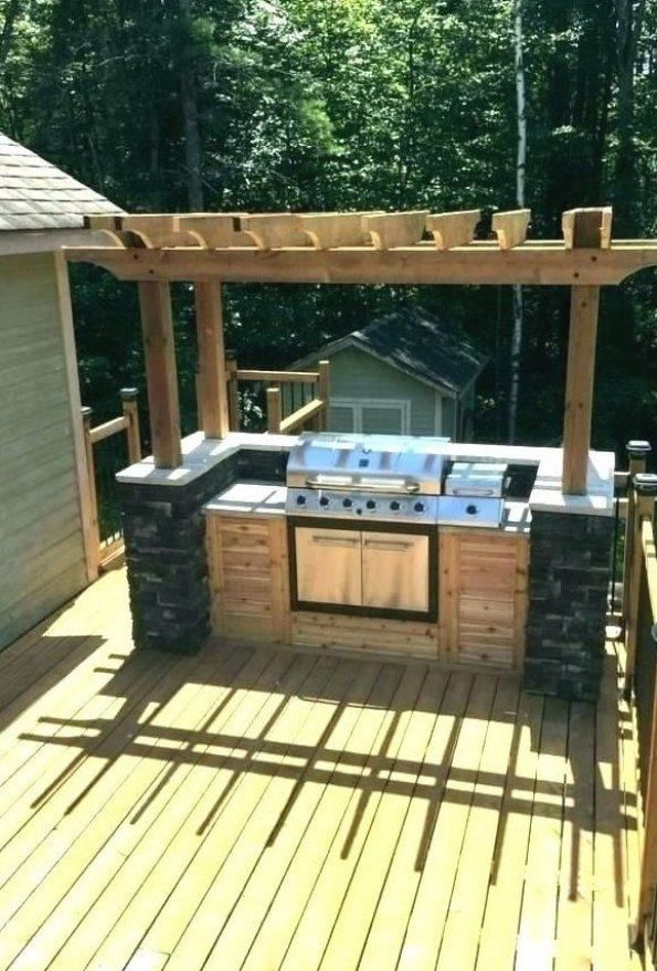 How To Produce A Present Day Glance Inside Your Kitchen Area In 2020 Deck Decorating Bbq Grill Design Barbecue Design