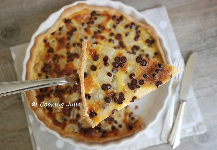 Que diriez-vous d'un dessert gourmand et de saison pour ce week-end ? Je vous propose une tarte aux poires et aux pépites de chocolat, autre...