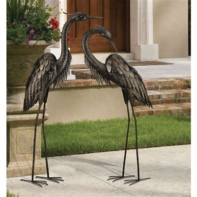 Regal Art And Gift Bronze Heron Standing Art,. Find This Pin And More On Garden  Sculptures U0026 Statues ...