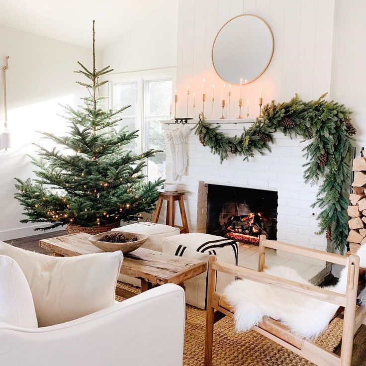 Modern Christmas Decorating Ideas For A Beautiful Holiday Home Jane At Home In 2020 Christmas Decorations Living Room Simple Christmas Decor Natural Christmas Decor