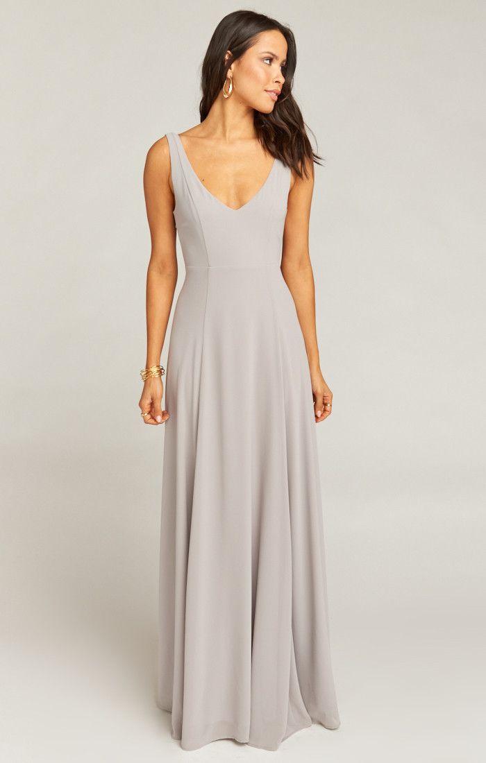 9315316f92 Jenn Maxi Dress ~ Dove Grey Chiffon in 2019 | My dream wedding ...