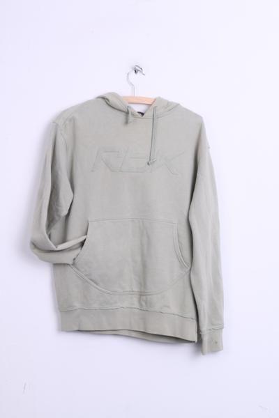 Reebok Womens M Sweatshirt Green Cotton Jumper Hood Sport - RetrospectClothes