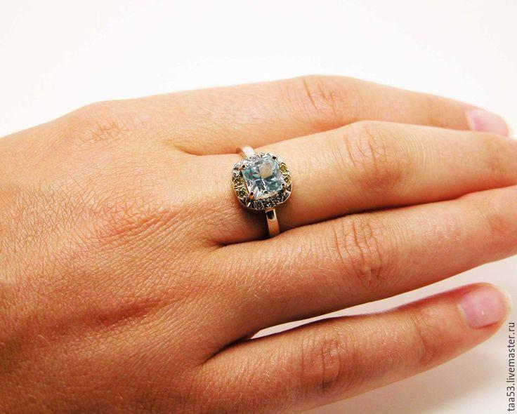 Купить Золотое кольцо с принцессой Топаза и бриллиантами. - кольцо с камнем, ювелирная работа
