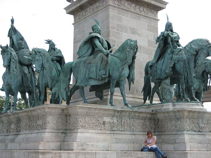 Statues In Heroes Square Budapest Places Around The