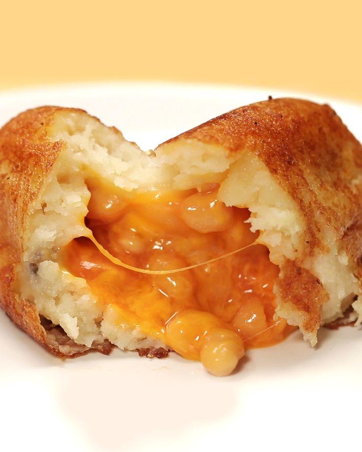 Bean And Cheese Stuffed Mashed Potato Balls