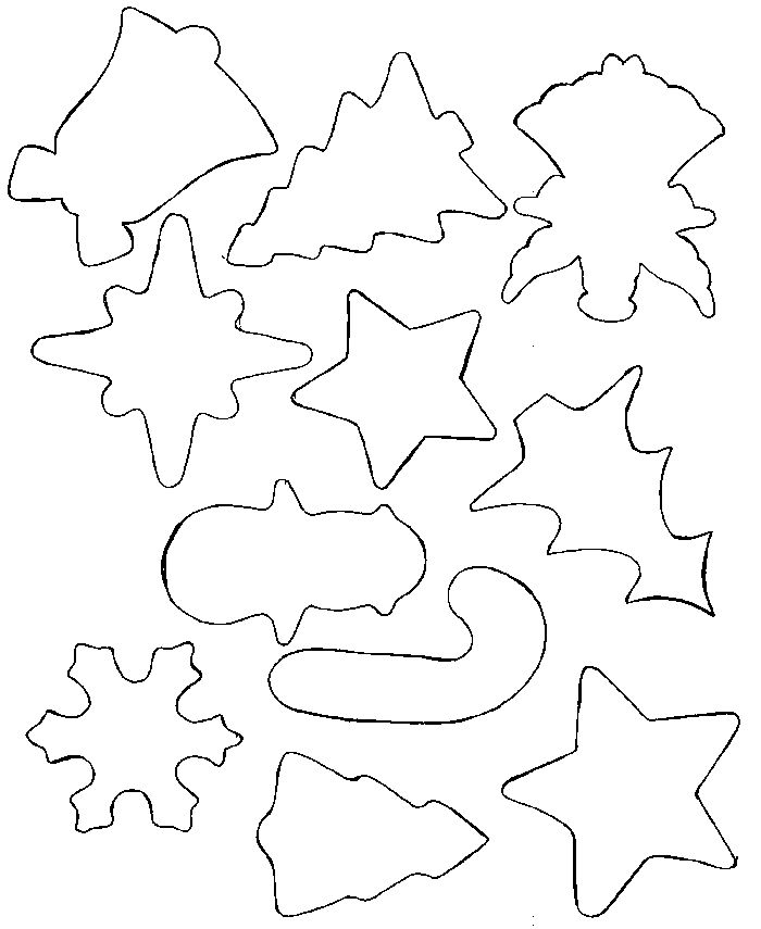 printable christmas templates and shapes - Google Search