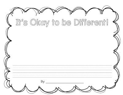 Pair with It's Okay to be Different by Todd Parr.  First grade classroom guidance.