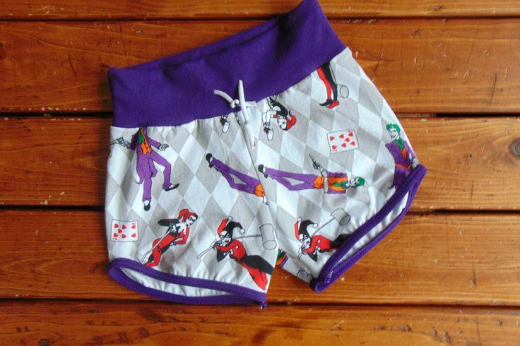 New to MiniGeeks on Etsy: Retro Shorts - Gym Shorts - Kids Shorts - Baby Shorts - Harley x Joker (30.00 CAD)