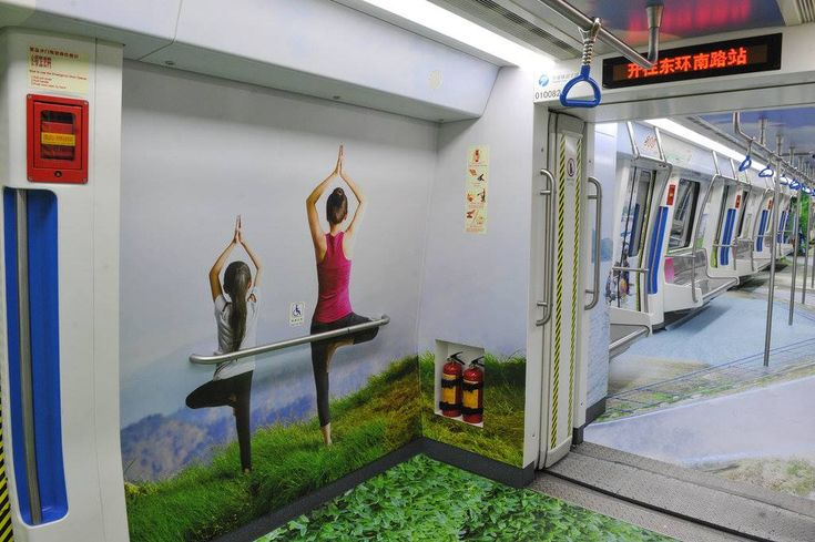 A special travel-themed subway train has been put into operation in Ningbo, Zhejiang Province. Commuters' daily subway trip won't be boring anymore! [Photo: CFP]