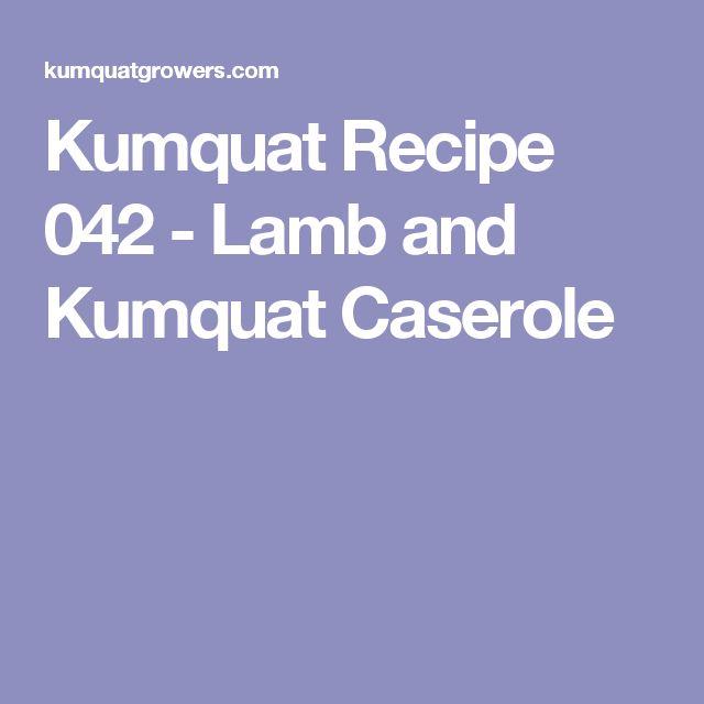 Kumquat Recipe 042 - Lamb and Kumquat Caserole