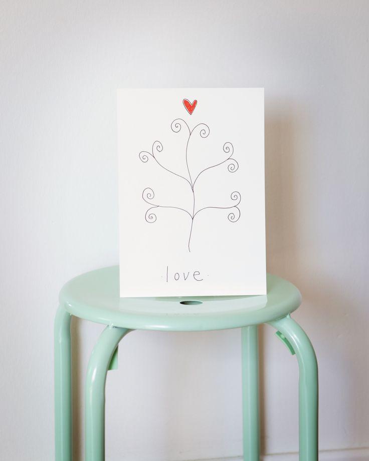 The tree of love. Let love grow www.strekpoesi.no illustration, strekpoesi
