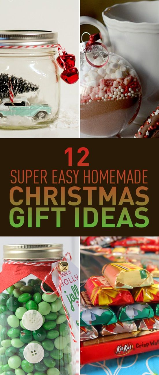 Make Your Own Christmas Gift Ideas Part - 32: 12 Super Easy Homemade Christmas Gift Ideas