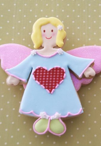 #Angel #Cookie So #Cute! We want one! We love and had to share! by Cakes Haute Couture