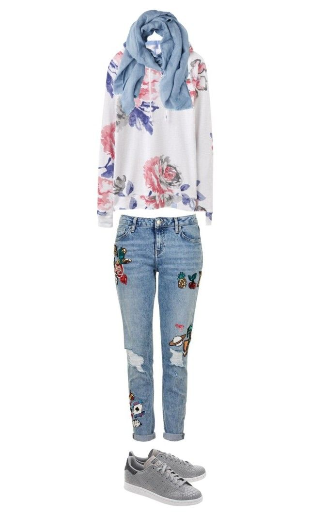 """Untitled #74"" by priliscaa on Polyvore featuring Joules, Topshop, adidas Originals and MANGO"