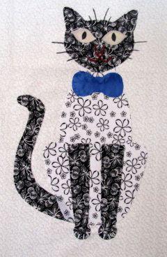 Cat using Carols Quilts Cat template