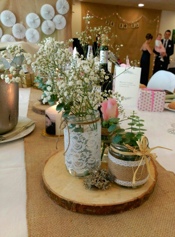 Centros de mesa rusticos rustico pinterest mesas - Centros para decorar mesas ...