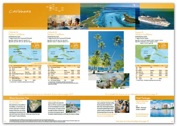 brochure  travel itinerary